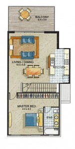 Townhouse 1 First Floor
